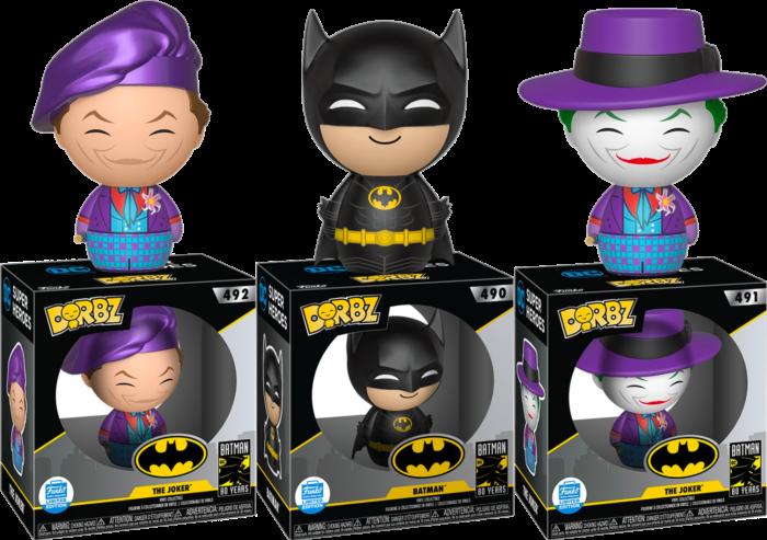 Batman 1989 Batman The Joker 80th Anniversary Dorbz Vinyl Figure Bundle Funko Exclusive Set Of 3 Popcultcha