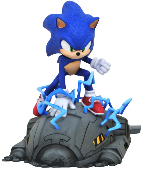 Sonic The Hedgehog 2020 Movie Sonic 1 6th Scale Limited Edition Statue By Diamond Select Toys Popcultcha