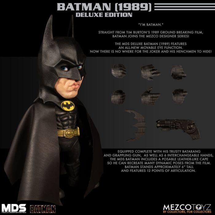 Batman 1989 Batman Designer Series 6 Action Figure By Mezco Toyz Popcultcha