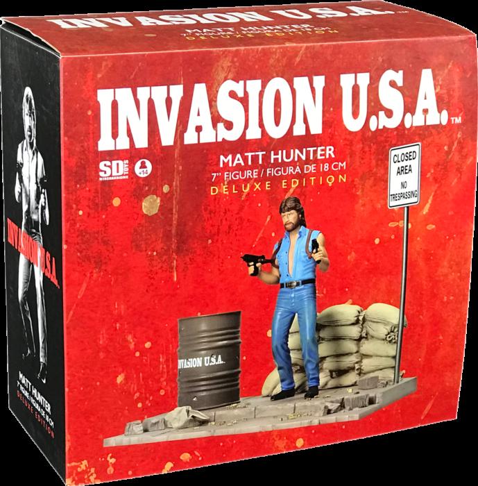 Chuck Norris Tasse I/'m Gonna Hit You Matt Hunter Invasion USA Premium Becher