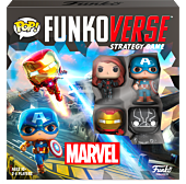 Avengers 4: Endgame - Iron Man, Black Panther, Captain America & Black Widow Funkoverse Strategy Game 4-Pack