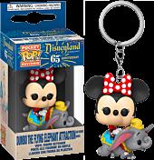 Disneyland: 65th Anniversary - Minnie Mouse on Dumbo The Flying Elephant Ride Pocket Pop! Vinyl Keychain