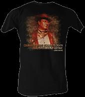 John Wayne - Courage Black Male T-Shirt 1