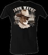 John Wayne - J-Dub Profile Black Male T-Shirt 1