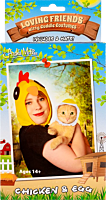 Archie McPhee - Chicken & the Egg Loving Friends Kitty Cuddle Cat Costume Set (One Size)