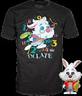 Alice in Wonderland - White Rabbit Flocked Pop! Vinyl Figure & T-Shirt Box Set