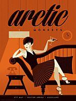 Arctic Monkeys - Vector Arena, Auckland 2014 Art Print by Tom Whalen