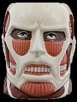 Colossal Titan Face Molded Mug