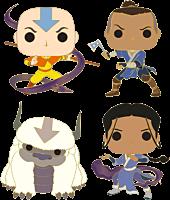 """Avatar: The Last Airbender - Aang Then? 4"""" Pop! Enamel Pin Bundle (Set of 4)"""