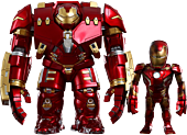 The Avengers - Avengers 2: Age of Ultron - Iron Man Hulkbuster and Battle Damaged Iron Man Mark XLIII (43) Hot Toys Artist Mix Bobble Head 2-Pack