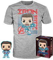 Avengers 4: Endgame - Iron Man Glow in the Dark Funko Pop! Vinyl Figure & T-Shirt Box Set