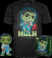 Avengers 4: Endgame - Hulk Pop! Vinyl Figure & T-Shirt Box Set.