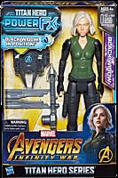 "Avengers 3: Infinity War - Black Widow Titan Hero Power FX 12"" Action Figure by Hasbro."