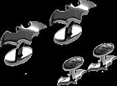 Batman - Gunmetal Black Logo Cufflinks | Popcultcha