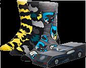 Batman - Batmobile Men's Crew Socks 3-Pack (One Size)