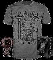 Batman: Arkham Asylum - The Joker Chrome Funko Pop! Vinyl Figure & T-Shirt Box Set