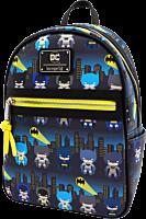 "Batman - Gotham City Chibi Print 10"" Faux Leather Mini Backpack"