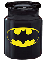 Batman Logo Black Glass Apothecary Jar (6 oz)