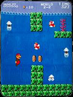 Super Mario Bros - Water Level Fleece Throw Blanket / Picnic Rug