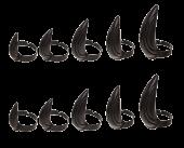 Black Panther (2018) - Adjustable Fingernail Tip Rings 10-Pack