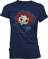 Avengers 2: Age of Ultron - Black Widow Pop! Tees Ladies Navy T-Shirt Main Image