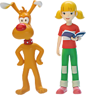 Inspector Gadget - Brain & Penny 1/12th Scale Action Figures (Set of 2)