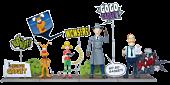 Inspector Gadget - Inspector Gadget Deluxe 1/12th Scale Action Figures (Set of 4)