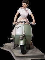 Roman Holiday - Princess Ann & 1951 Vespa 125 1/4 Scale Statue