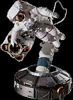 The Real - Astronaut ISS EMU Spacewalk 1/4 Scale Diorama Statue