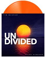 "Tim McGraw & Tyler Hubbard - Undivided 12"" Split Single Vinyl Record (2021 Record Store Day Exclusive Orange Coloured Vinyl)"