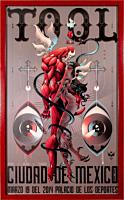 Tool - Ciudad de Mexico 2014 Tour Art Print with Spot Varnish by Alex Arizmendi (Framed Red LE 295)