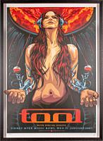 Tool - Melbourne 31 January 2007 Art Print by Ken Taylor (Framed Black on White LE 500)