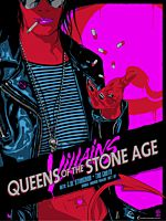 Queens of the Stone Age - Mexicola Villains Tour Sydney 1 September 2018 Art Print by Vance Kelly (LE 250)
