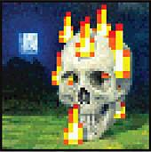 Minecraft - Burning Skull Poster