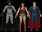 Batman, Superman and Wonder Woman Bendables Set