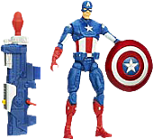 "Captain America - The Winter Soldier - Captain America Shockwave Blast Super Soldier Gear 3.75"" Action Figure"