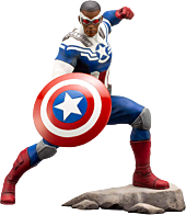 The Avengers - Sam Wilson Captain America 1/10th Scale ArtFX Statue   Popcultcha