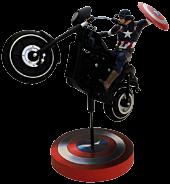 """Captain America Rides 15"""" Premium Motion Statue"""