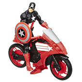 Captain America with Defender Cycle Titan Heroes