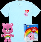 Care Bears - Cheer Bear Flocked Pop! Vinyl Figure & T-Shirt Box Set