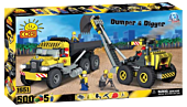 Action Town - 500 Piece Construction Dumper and Digger