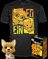 Cowboy Bebop - Ein with Ed & Ein Tee Flocked Pop! Vinyl Figure & T-Shirt Box Set (2020 Fall Convention Exclusive)