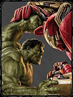 Avengers 2: Age of Ultron - Hulk vs Hulk Buster Close Fight Fleece Throw Blanket