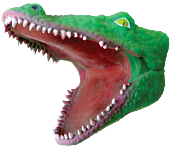 Dark Green Crocodile Rubber Hand Puppet