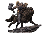 """Warcraft - Blackhand Riding Wolf 10"""" Statue"""