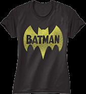 Batman - Vintage Logo Black Female T-Shirt