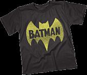 Batman - Vintage Logo Black Kids or Youth T-Shirt