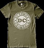 DC Comics - Logo Khaki Male T-Shirt