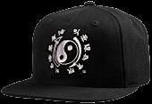 Bruce Lee - DGK x Bruce Lee Yin Yang Black Snapback Hat (One Size)