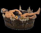 "The Witcher 3: Wild Hunt - Geralt in the Bath 4"" Statue"